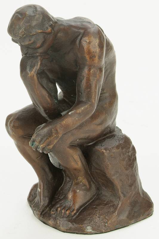 bronze figur der denker von rodin edition atlas editions deagostini ebay. Black Bedroom Furniture Sets. Home Design Ideas